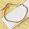 001-0552 - Позолоченный браслет Венецианское плетение , 19 см