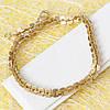 001-0559 - Позолоченный браслет в насечках Якорное плетение , 20 см