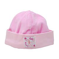 Мягкая шапочка без завязок для маленьких девочек