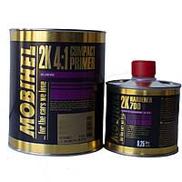 Грунт акриловый Mobihel HS 4+1 (компактпраймер) 1л + отвердитель 700 0,25л черный