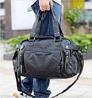 Стильная дорожно-спортивная сумка. Черная