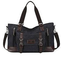 Дорожно-спортивная тканевая сумка. Черная
