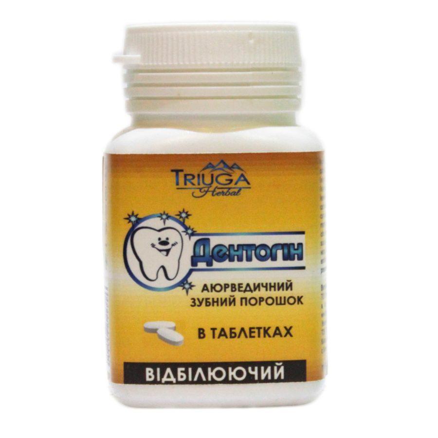 Зубной порошок аюрведический Дентогин в таблектах 60 шт.