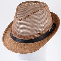 Летняя шляпа челентанка с элементами сетки