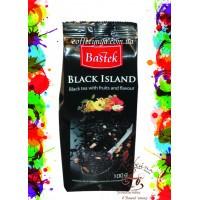 Чай черный листовой с фруктами Bastek black Island (Черный остров) с фруктами Польша 100г