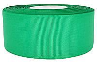 Репсовая лента зеленая 4 см х 25 ярдов