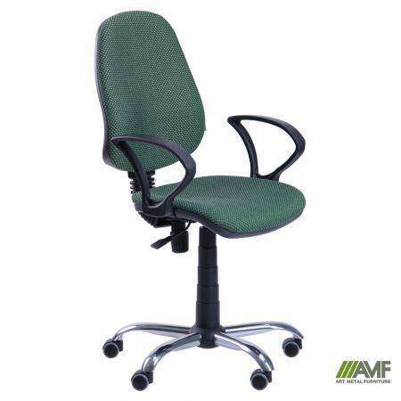 Кресло для персонала Бридж, подлокотники АМФ4,5; механизмы ПК/FS крестовина Хром, TM AMF