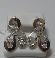 Серьги из серебра и золота Ядвига, фото 1