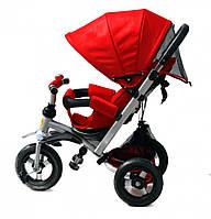Детский трехколесный велосипед-коляска Baby trike CT-22, надувные колеса, аналог Кроссер Т-350,красный