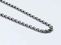 Серебряная цепочка Ручеек с чернением