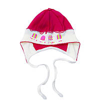 Красивая шапочка из интерлока на девочку