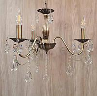 Люстра Eurosvet античная бронза 3 рожка + лампы в подарок!