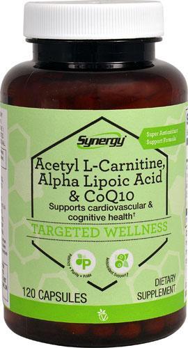 Vitacost Synergy Acetyl L-Carnitine, Alpha Lipoic Acid & CoQ10 120 капс