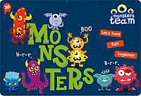 """Подложка пластиковая """"Monsters"""" PP 1 Вересня"""