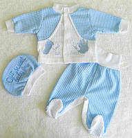 """Комплект для новорожденного, тройка """"Ручки, ножки"""""""