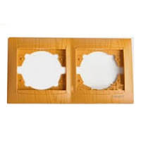 Рамка 2-я LEMANSO Сакура ольха горизонтальная  LMR1411