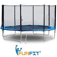 Батут для детей и взрослых Funfit 374 cм.
