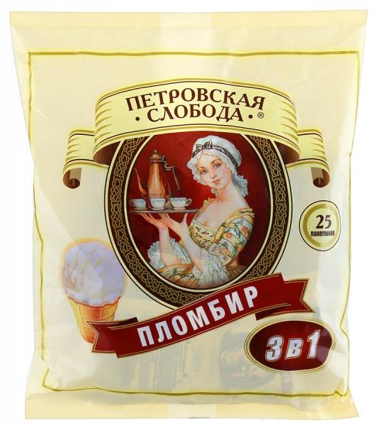 Кофе 3 в 1 25стиков Петровская Слобода со вкусом Пломбира