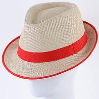 Летняя женская шляпа из рисовой  соломки челентанка