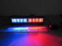 Стробоскоп светодиодный, фара вспышка,  красно/синий, LED315-4S-2  комлект