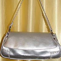 Женская сумка серебристая 31 х 14 см