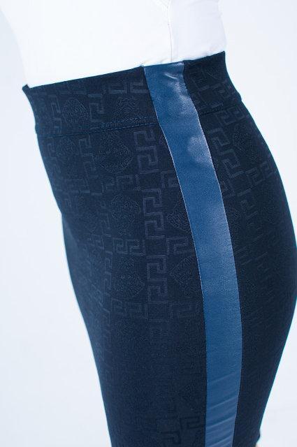 f1b68633fef Модная женская юбка с кожаной вставкой до колена - купить по лучшей ...