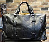 Стильная спортивно дорожная сумка. Черная