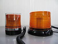 Проблесковый маячок  LED 23 желтый  , светодиодный на магните.