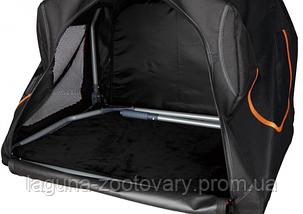 Складная палатка - переноска 84х54х55см, c расширением  для собак и кошек, черная/оранжевая, фото 3