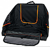 Складная палатка - переноска 84х54х55см, c расширением  для собак и кошек, черная/оранжевая, фото 4