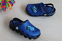 Детские двухцветные кроксы для мальчика оптом тм Виталия р. 20-31,5