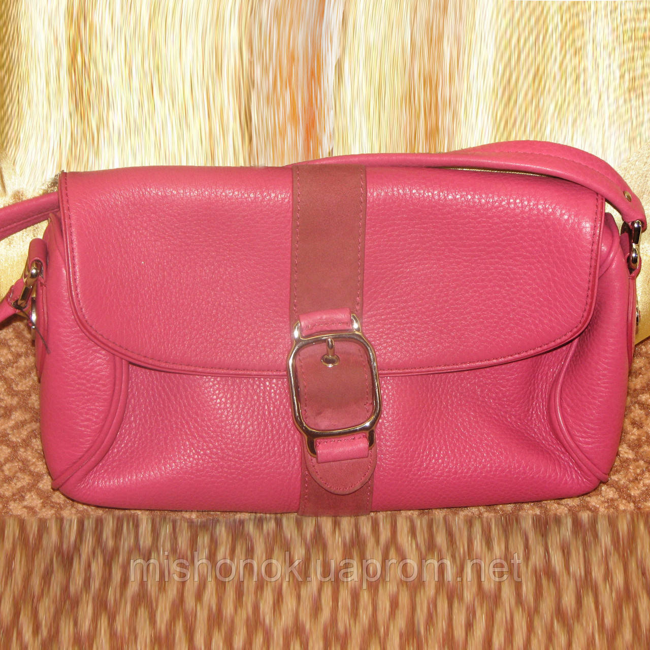 25a6ad117cec Женская сумочка Cole Haan, клатч розовая, натуральная кожа - Комиссионочка