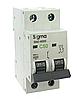 Автоматический выключатель автомат 50 А ампер двухфазный двухполюсный С C характеристика цена купить