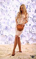 Платье миди с рукавом 3/4 с пуговицами Цвета: