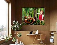 """Картина маслом """"Маша и медведи"""""""