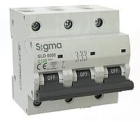Автоматический выключатель автомат 125 А ампер трехфазный трехполюсный С C характеристика цена купить, фото 1