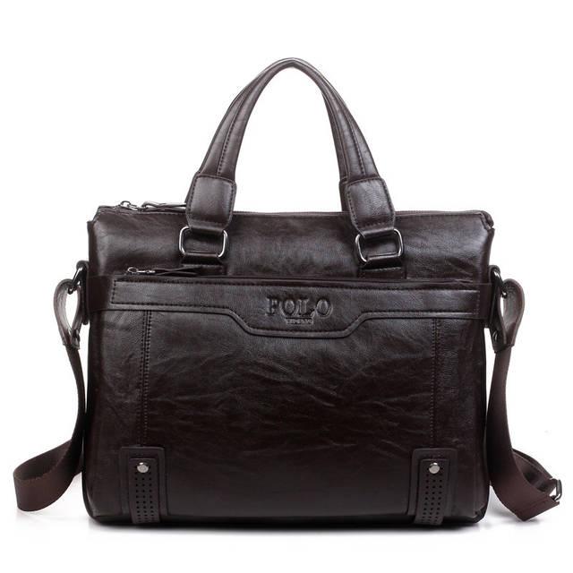 2934309ceb2c Сумка Polo мужская кожаная для документов. Чоловіча сумка через плечо Поло  | Темно-коричневая