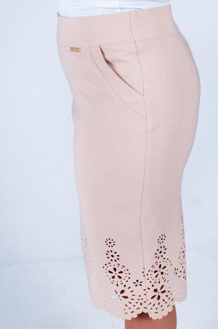 Нарядная юбка с с перфорацией, размеры 46-58