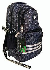 Универсальный рюкзак для школы и прогулок качественная реплика Adidas черный