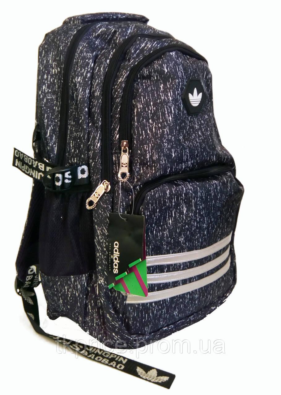 7ecf215209eb Универсальный рюкзак для школы и прогулок качественная реплика Adidas черный  - Интернет-магазин