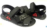 Босоножки мужские Reebok кожаные черные Re0002