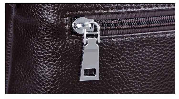 Сумка мужская Polo Business кожаная для документов через плечо. Чоловіча сумка Поло | Черная, фото 7