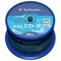 Диск CD-R Verbatim 700Mb 52x Cake box 50 Crystal (43343)