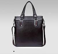 Сумка мужская Polo Business кожаная через плечо. Чоловіча сумка Поло | Темно-коричневая