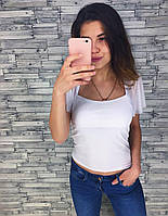 Женская стильная летняя футболка (2 цвета), фото 1
