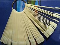 Палитра веер (матовая)на кольце на 50 образцов для гель лака