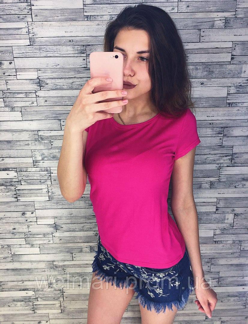Женская красивая летняя футболка (расцветки), фото 1