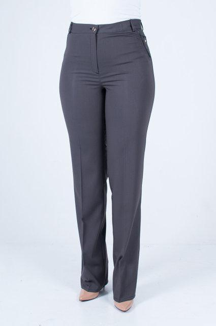 Модные брюки прямого кроя, средней посадки, увеличенных размеров