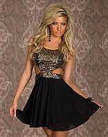 Короткое коктейльное платье Д764