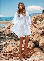 Пляжное платье с бахромой А418